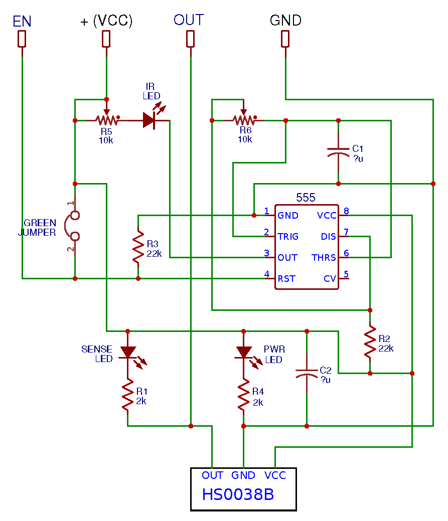 Ir Senor Obstacle Avoidance Keyes Ky 032 Led Detector Circuit I Want To Thank Arik Yavilevich For His Valuable Contribution Further Comments And Corrections Will Be Appreciated Schematic